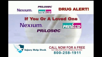 Injury Help Desk TV Spot, 'Heartburn Drugs' - Thumbnail 1