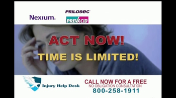 Injury Help Desk TV Spot, 'Heartburn Drugs' - Thumbnail 6