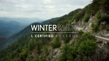Lexus Winter Collection Sales Event TV Spot, 'L/Certified Vehicles' [T2] - 755 commercial airings