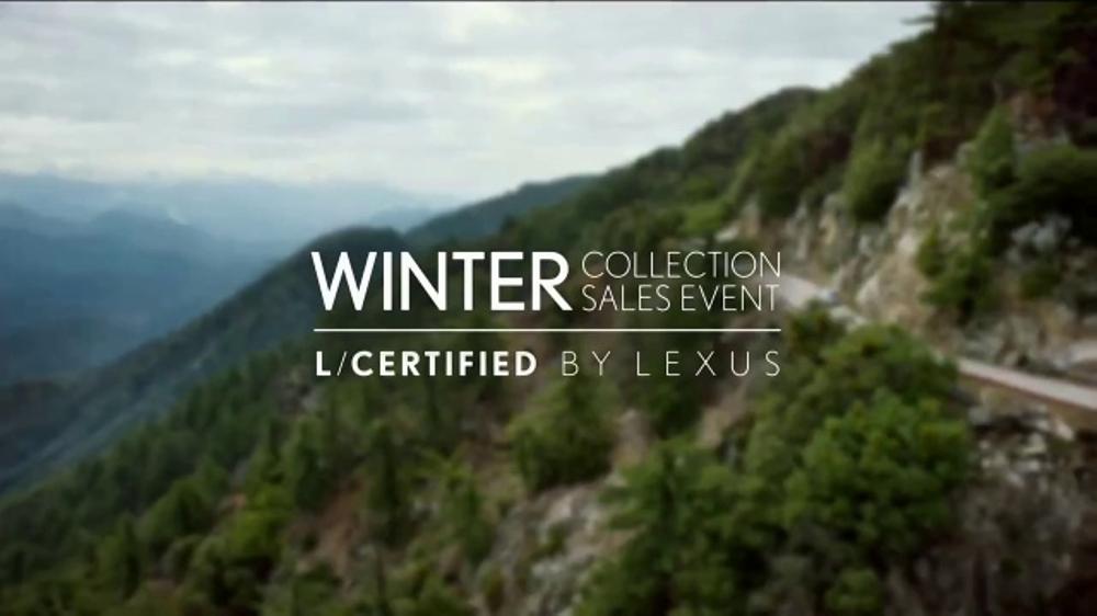 Lexus Winter Collection Sales Event TV Commercial, 'L/Certified Vehicles' [T2]