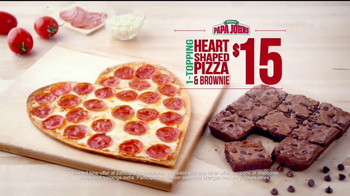 Papa John's Heart-Shaped Pizza TV Spot, 'Valentine's Day Surprises' - Thumbnail 7