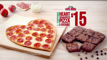 Papa John's Heart-Shaped Pizza TV Spot, 'Valentine's Day Surprises' - Thumbnail 8