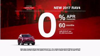 Toyota Safety First Sales Event TV Spot, '2017 RAV4: Bonus Cash' [T2] - Thumbnail 7