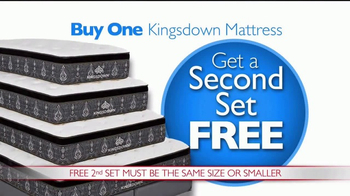Rooms to Go Presidents' Day Mattress Sale TV Spot, 'Buy One Get One' - Thumbnail 3