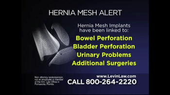 Levin Law TV Spot, 'Hernia Mesh Alert' - 49 commercial airings