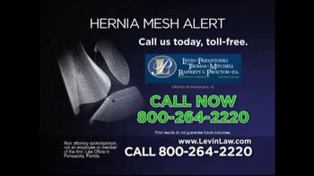Levin Law TV Spot, 'Hernia Mesh Alert' - Thumbnail 4