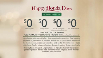 Happy Honda Days TV Spot, 'Miniature House: Family' - Thumbnail 8
