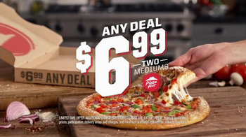 Pizza Hut $6.99 Any Deal TV Spot, 'Hot Chocolate Brownie' - Thumbnail 2