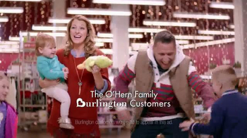 Burlington Coat Factory TV Spot, 'Christmas With the O'Hern Family'