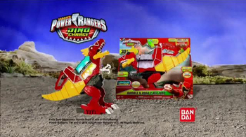 Power Rangers Dino Charge Rumble and Roar T-Rex Zord TV Spot, 'Spin Attack' - 644 commercial airings