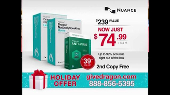 Nuance Dragon NaturallySpeaking 13 Home TV Spot, 'Holiday Bundle' - Thumbnail 8