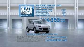 Ford Black Friday Pricing Event TV Spot, 'Inside Deal: Escape' - Thumbnail 5