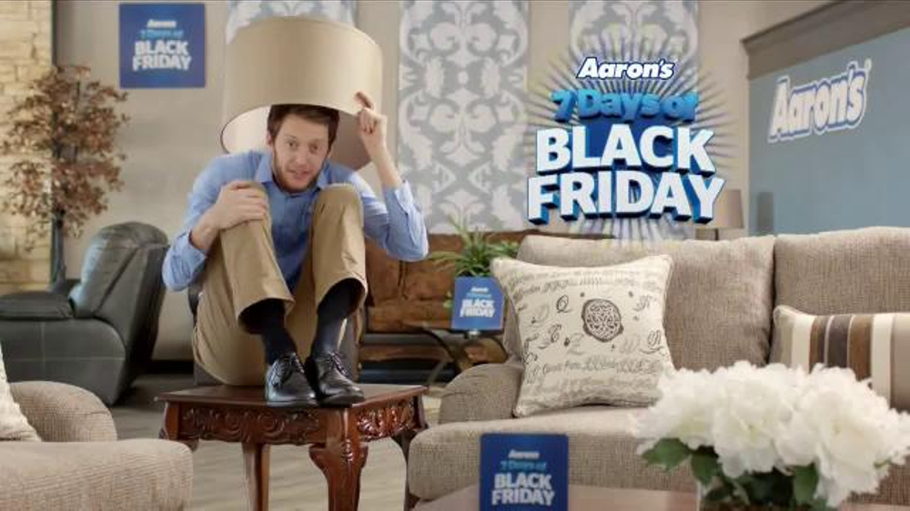 Aarons 7 Days Of Black Friday Sale TV Commercial Hiding