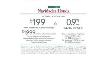 2016 Honda Accord: El Evento Navidades Honda TV Spot, 'Cena' [Spanish] - Thumbnail 7