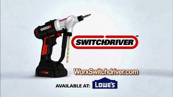 Worx Switchdriver TV Spot, 'Twice as Fast' - Thumbnail 9