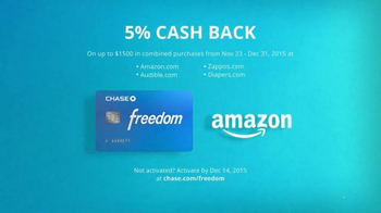Chase Freedom TV Spot, 'Amazon: More Fun Out of the Holidays' - Thumbnail 5