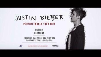 Justin Bieber: Purpose World Tour TV Spot - 10 commercial airings