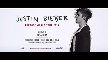 Justin Bieber: Purpose World Tour TV Spot