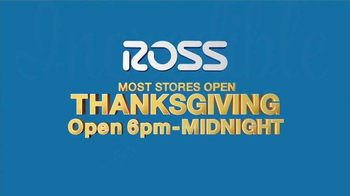 Ross TV Spot, 'Thanksgiving Weekend' - Thumbnail 2