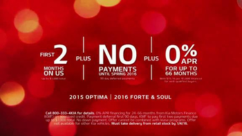 Kia Holidays On Us Sales Event TV Spot, 'Payments on Us' - Thumbnail 3