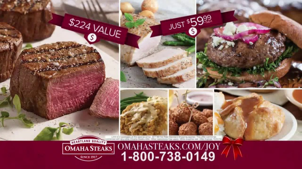 omaha steaks tv commercial 2016 holiday deluxe gift package ispottv