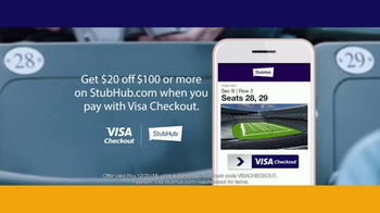 VISA Checkout TV Spot, 'StubHub: Same Seats' - Thumbnail 10