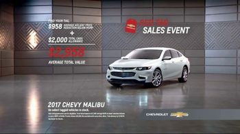 Chevrolet Red Tag Sales Event TV Spot, '2017 Malibu' - 307 commercial airings