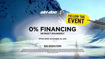 Ski-Doo Yellow Tag Event TV Spot, '2017 Ski-Doo Summit Sleds' - 6 commercial airings