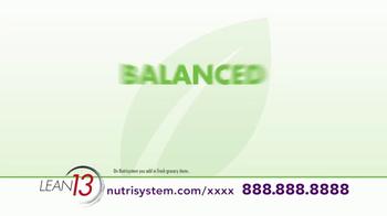 Nutrisystem Lean13 TV Spot, 'Lifestyle' - Thumbnail 5