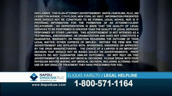 Napoli Shkolnik PLLC TV Spot, 'Eliquis and Xarelto' - Thumbnail 9