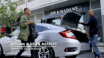 Honda Civic TV Spot, 'Greatness Is Within Reach: Sir & Madame: The Merrits' [T1] - 65 commercial airings
