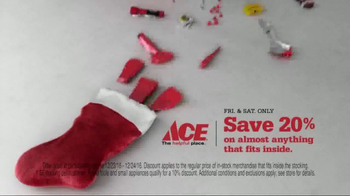 ACE Hardware Giant Stocking Sale TV Spot, 'Wrap It in Red' - Thumbnail 5