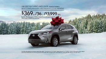 Lexus December to Remember Event TV Spot, 'Santa's Lap: 2017 NX Turbo'