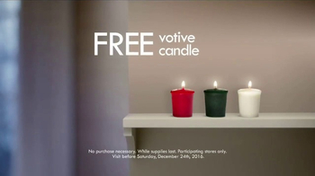 Yankee Candle TV Spot, 'Holidays: Free Votive Candle' - Thumbnail 7
