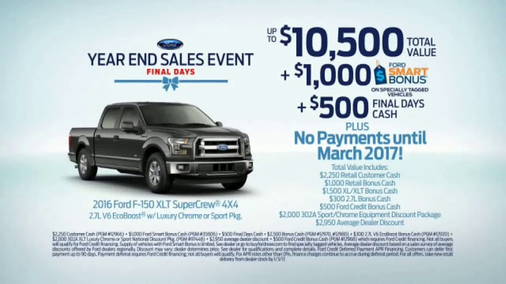 Ford Year End Sales Event Tv Commercial Kick Start The