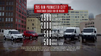 Ram Commercial Van Season TV Spot, '2015 ProMaster City' - Thumbnail 9
