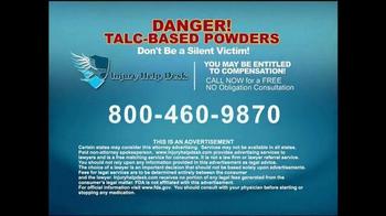 Injury Help Desk TV Spot, 'Talcum Based Powders' - Thumbnail 9