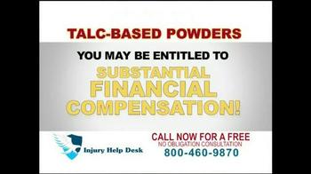 Injury Help Desk TV Spot, 'Talcum Based Powders' - Thumbnail 4