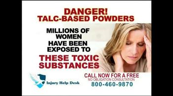 Injury Help Desk TV Spot, 'Talcum Based Powders' - Thumbnail 6