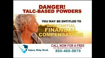 Injury Help Desk TV Spot, 'Talcum Based Powders' - Thumbnail 7