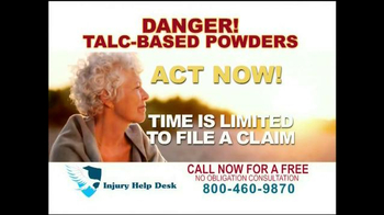 Injury Help Desk TV Spot, 'Talcum Based Powders'
