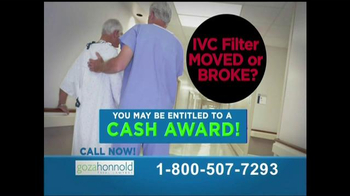 Goza Honnold Trial Lawyers TV Spot, 'IVC Blood Clot Filter Warning' - Thumbnail 9