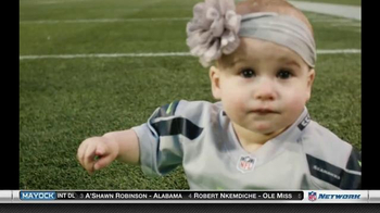 NFL Newborn Fan Club TV Spot, 'Seahawks' Lucky Onesie' - Thumbnail 6