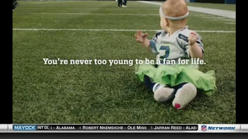 NFL Newborn Fan Club TV Spot, 'Seahawks' Lucky Onesie' - Thumbnail 7