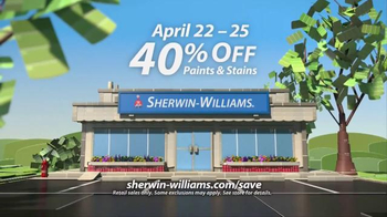 The New Look of Sherwin-Williams Super Sale TV Spot, 'Paints and Stains' - Thumbnail 6