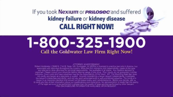 Goldwater Law Firm TV Spot, 'Have You Taken Nexium or Prilosec?' - Thumbnail 4