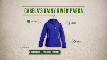 Cabela's Rainy River PacLite Parka TV Spot, 'Weather Man Proof' - Thumbnail 6