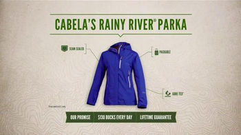 Cabela's Rainy River PacLite Parka TV Spot, 'Weather Man Proof' - Thumbnail 7