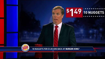 Burger King Chicken Nuggets TV Spot, 'Senator' - 4901 commercial airings