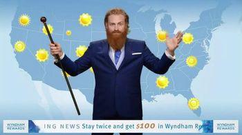 Wyndham Rewards TV Spot, 'Forecast' Featuring Kristofer Hivju - Thumbnail 2